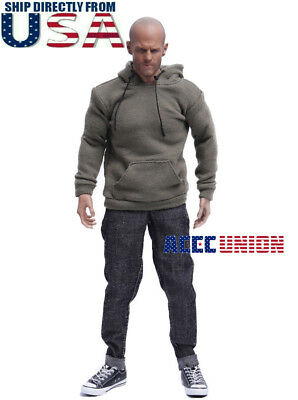 "1/6 Scale Sweater Jeans Sneakers Set B For 12"" Hot Toys PHICEN Male Figure USA"