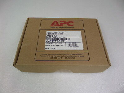 New Sealed Box  Genuine APC AR8113 Cable Management Hoops Kit 6 count