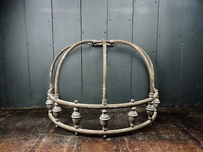 Original mid-19th Century Antique Victorian Brass Bed Canope Vallence
