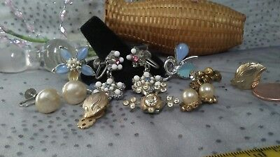 Lot Of  Vintage Jewelry Retro Antique Earrings