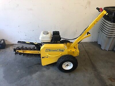 "2016 GROUND HOG T-4 WALK BEHIND GAS TRENCHER  18"" deep , 3"" wide . Nice Cond"