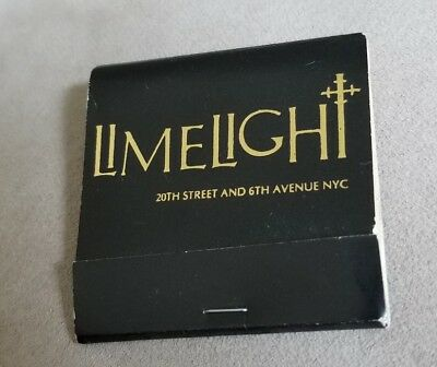 Vintage Matchbook Limelight 20th Street And 6th Avenue NYC New York City Club