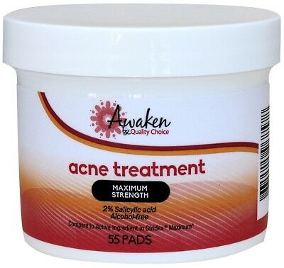 Maximum Strength Acne Treatment Pads Generic for Stridex 55 Pads per Jar