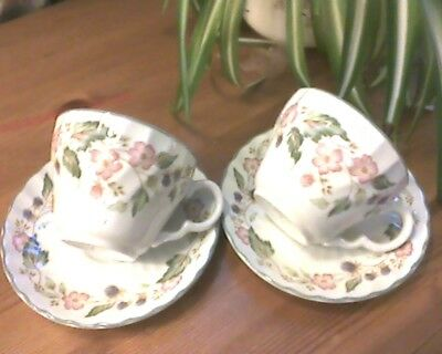 BHS VICTORIAN ROSE -cups and saucers X 8