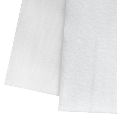 6 INCH x 3 FEET (1 Yard) ~ Strong Sewing on Hook Loop Tape WHITE Non Sticky Back