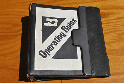 1990s BN Burlington Northern Railroad Mutiple Regions Timetables Safety Binder