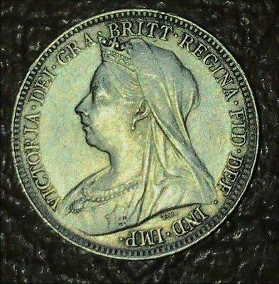 1898 Silver Six Pence Coin Great Britain World Foreign Estate England UNC