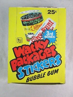 Vintage Topps WACKY PACKAGES Stickers Bubble Gum 3rd Series - Full Box