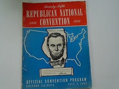 1952 Republican National Official Convention Program Chicago IL* IKE EISENHOWER