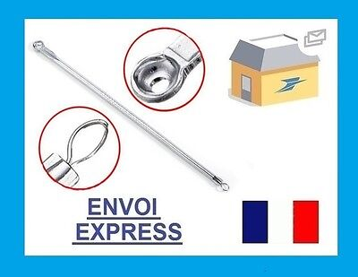 Aiguille tire comedon visage boutons comedon acne extraction points noirs
