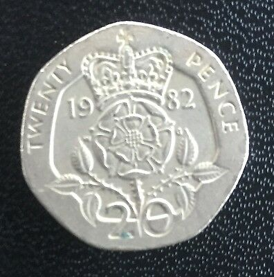 United Kingdom 20 Pence coin 1982