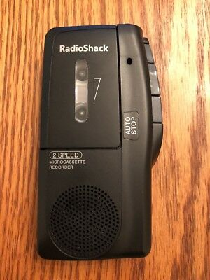 Radio Shack 14-1148 2-Speed MicroCassette  Recorder - Tested And Working.