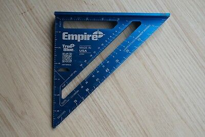 """Empire Tools USA True Blue 7"""" Aluminum Laser Etched Rafter Square E2994"""