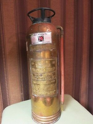 Vintage Chief Croker  Fire Extinguisher - Copper & Brass  - New York