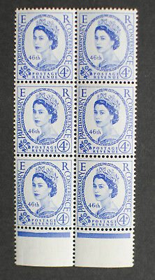 GB 1957 4d 46th Inter-Parliamentary Union Conference MNH Block of 6