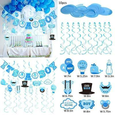 Sale 30 Pcs Baby Shower Decorations Its A Boy Banner Swirl Hanging