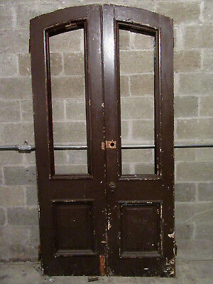 ~ ANTIQUE DOUBLE ENTRANCE FRENCH DOORS ~ 48.25 x 95 ~ ARCHITECTURAL SALVAGE