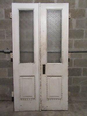 ~ ANTIQUE DOUBLE ENTRANCE FRENCH DOORS ~ 43 x 83.75 ~ ARCHITECTURAL SALVAGE