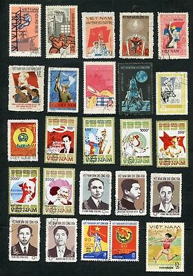 Stamp Lot Of Vietnam (6 Scans) Used