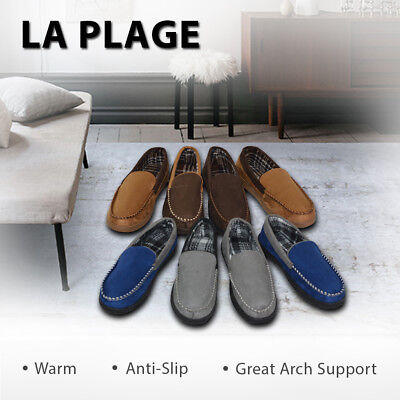 Men's Non-Skid Indoor/Outdoor Moccasin Slippers Bedroom Dining Room House Shoes
