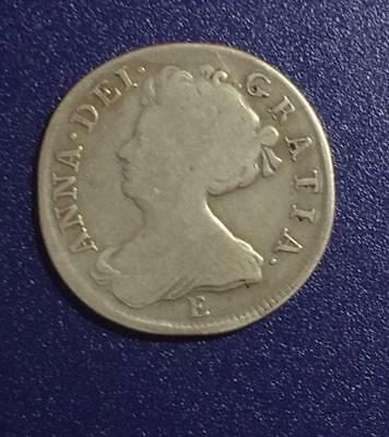 1707 Queen Anne 6 Pence With Fine Details and Minor Problems (KM #522.1)