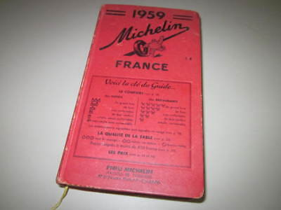 Vintage 1959 MICHELIN GUIDE FRANCE Maps Culinary FREE SHIPPING