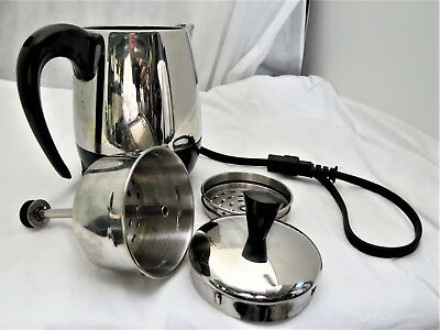 FARBERWARE SUPERFAST AUTOMATIC STAINLESS 2-6 CUP PERCOLATOR  - Works Fine