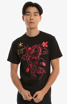 ad2a600d102 Disney Men s Mulan Mushu Chinese New Year Licensed T-Shirt Black Size Small  New