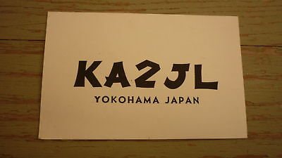Old Japanese Ham Qsl Radio Card, 1960 Yokohama Japan, Ka2Jl 2