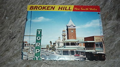 AUSTRALIAN OLD POSTCARD VIEW FOLDER. FROM THE 1970s BROKEN HILL NSW