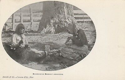 Postcard Shoshone Basket Weavers Carson City, Nevada, By Smith & Co.unposted