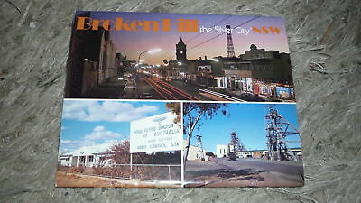 AUSTRALIAN OLD POSTCARD VIEW FOLDER. FROM THE 1980s BROKEN HILL NSW