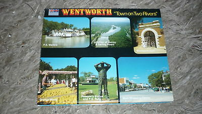 AUSTRALIAN OLD POSTCARD VIEW FOLDER. FROM THE 1980s WENTWORTH NSW
