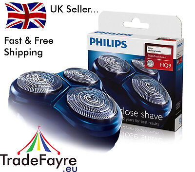 PHILIPS HQ9 GENUINE SPEED XL SHAVER HEADS / FOILS / BLADES ~ Philishave x3