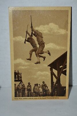 WWII Army Training Camp Haan CA  R.P. Postcard Famed Commando Tactics