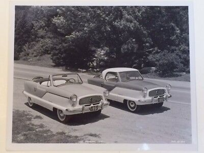 3 Nash Metropolitan ORIGINAL Factory Photos 8 x 10 from  1961  1962  1953