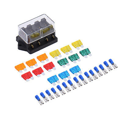 12V 32V Auto Car Boat 4 Way Circuit Standard fuse holder flush mount atc 12v $5 99 picclick