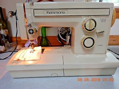 Kenmore Free Arm Sewing Machine All Metal #158.19460 with Accessories