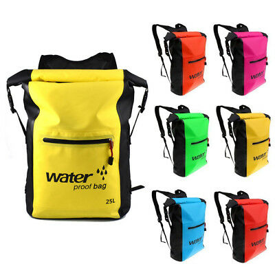 AU. 25L Waterproof Dry Bag Outdoor Camping Sack Kayak Boat Duffle Backpack Pouch