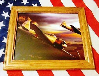 Framed World War Two Painting, WW2. Japanese Zeros, Japan, Zero Fighter Plane