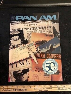 Pan Am Vintage Clipper Magazine - 1985 50th Anniversary of the China Clipper