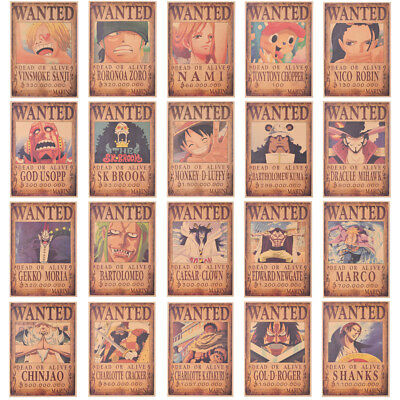 One Piece Anime Poster Japan Cartoon Style Fashion Home Decor for Fans Supplies
