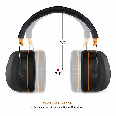 Tacklife Noise Reduction Safety Ear Muffs, SNR 34dB Professional Hearing Protect