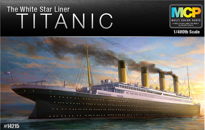 ACADEMY #14215 1/400 The White Star Liner TITANIC Multi Color Parts