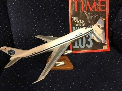 Vintage Pan Am Wooden Model Plane - Maid of the Seas Plus Wind Analyzer/Jeppeson