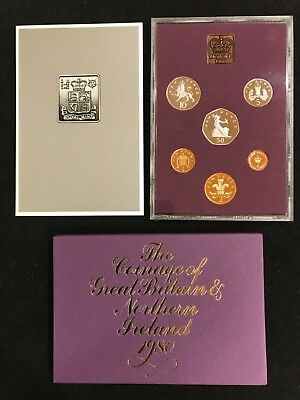 Royal Mint 1980 Coinage of Great Britain and Northern Ireland Proof Set
