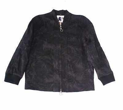 Ch. NEW Black Gray Mens Size Small S Full-Zip Printed Bomber Jacket $395 763
