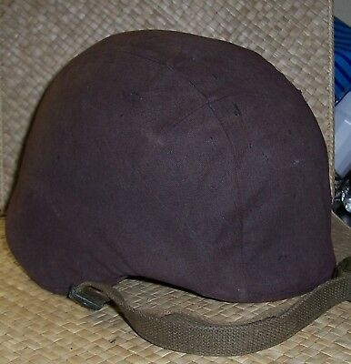 Early U.s. Kevlar Helmet With Brown Or Faded Black Cover.