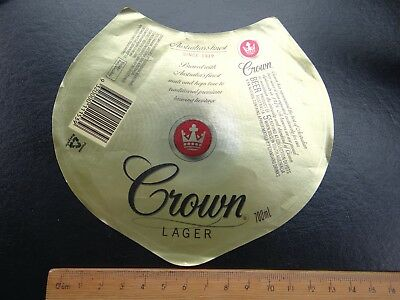 1 x 700ml CARLTON CROWN LAGER COLLECTABLE BEER LABEL