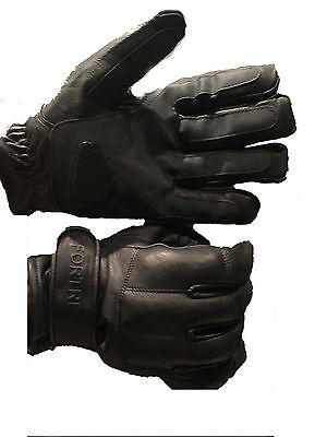 Pure Leather Fortress Lead & Tactical Gloves – Kevlar Lining Doorman Security